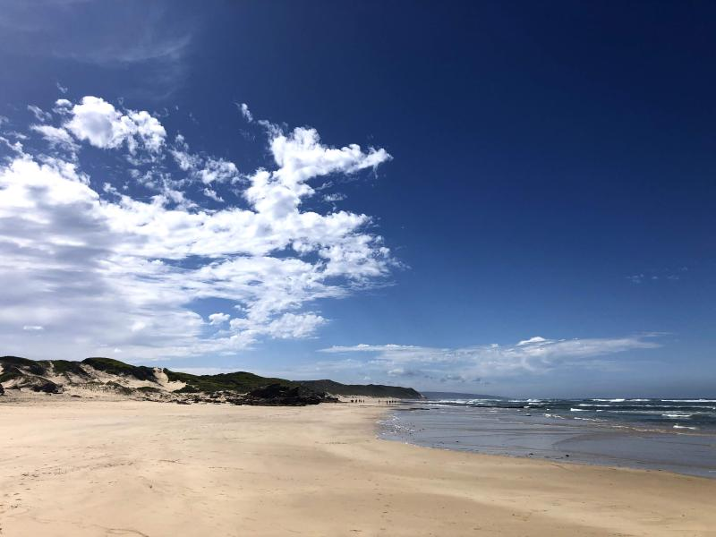 Figure 1: A photo taken on the beach in Stilbaai on March 24, 2020.