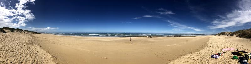 Another Stilbaai beach scene, this time in panaroma format, taken a day before the SA lockdown.