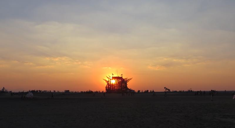 Figure 1: From the oldies but goodies photo album, because I haven't been getting out much: Sunset at AfrikaBurn 2017. Also due to nostalgia, as our AB 2020 adventure was utterly understandably cancelled (UUC). There's nothing quite like ambulating amicably across that piece of desert with your homies.