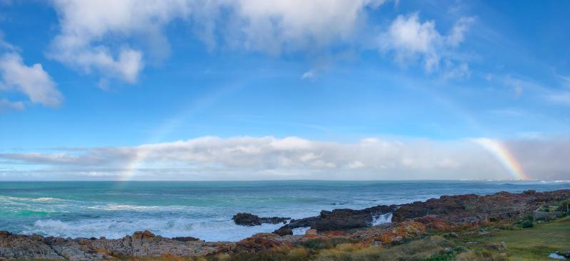 Figure 1: A rainbow over Betty's Bay, captured by GOU#1.
