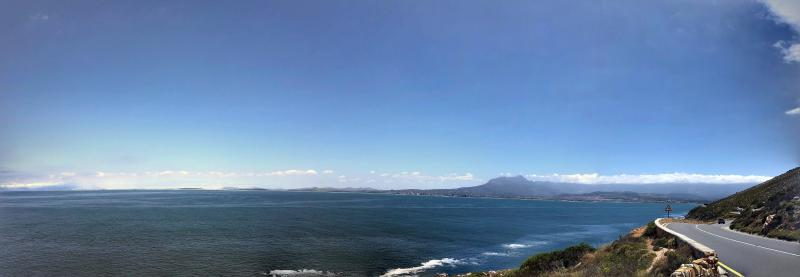 Figure 1: View of False Bay from Clarence Drive, a truly beautiful road.