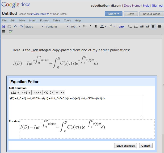 Google cpbothanet for Google documents editor