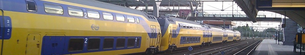 Some train at the Rotterdam Station. I spent lots of time in these the past week.