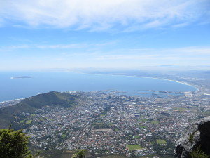 Cape Town from Table Mountain, photo is copyright 2015 Charl Botha.