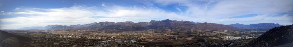 The view from the top of Paarl Rock.